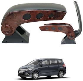 Oshotto Dual Tone Car Armrest Console Wooden & Chrome for Maruti Ertiga Old