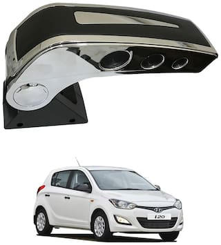 Oshotto Dual Tone Car Armrest Console Black & Chrome for Hyundai i20 Sportz