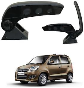 Oshotto Dual Tone Car Armrest Console Dark Black & Chrome for Wagon-R 2010 Onwards