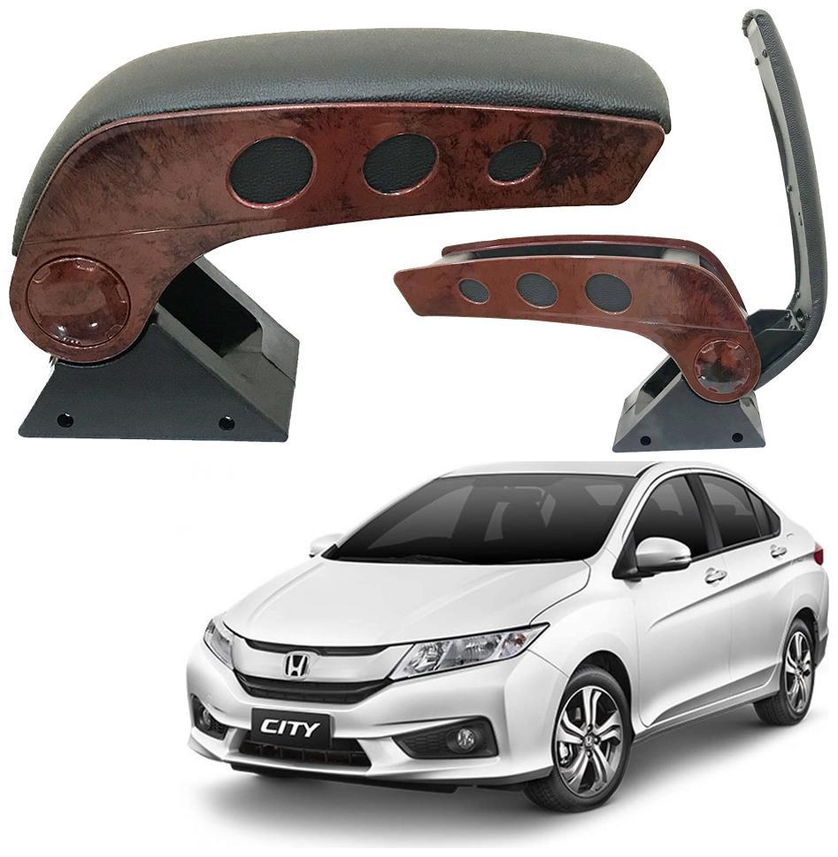 Oshotto Dual Tone Car Armrest Console Wooden   Chrome for Honda City Old/ZX by Goel Enterprises