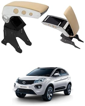 Oshotto Dual Tone Car Armrest Console Beige & Chrome for Tata Nexon