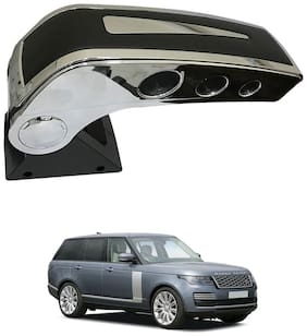 Oshotto Dual Tone Car Armrest Console Black & Chrome Compatible with Rangerover Vogue