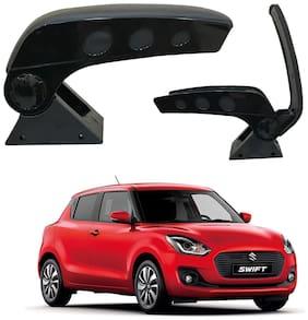 Oshotto Dual Tone Car Armrest Console Dark Black & Chrome for Maruti-Swift Old