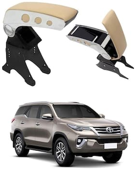 Oshotto Dual Tone Car Armrest Console Beige & Chrome Compatible with Toyota Urban Cruiser