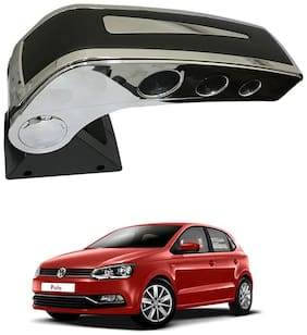 Oshotto Dual Tone Car Armrest Console Black & Chrome for Volkswagon Polo