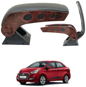 Oshotto Dual Tone Car Armrest Console Wooden & Chrome for Hyundai Xcent
