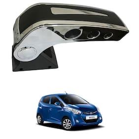 Oshotto Dual Tone Car Armrest Console Black & Chrome for Hyundai EON
