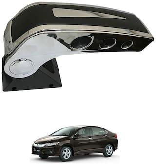 Oshotto Dual Tone Car Armrest Console Black & Chrome for Honda City I-vtec 2010 Onwards