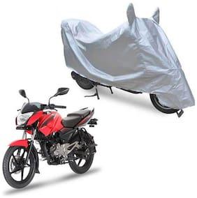 Oshotto Dust Proof Water Resistant Double Mirror Pocket Silvertech Bike Body Cover for Bajaj Pulsar LS135 (Silver)