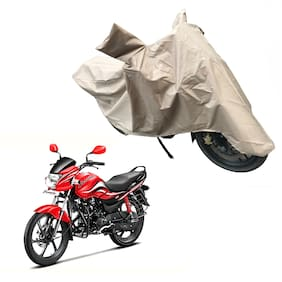 Oshotto Dust and Water Proof Double Mirror Pocket X1 Bike Body Cover for Hero Passion Pro (Brown)