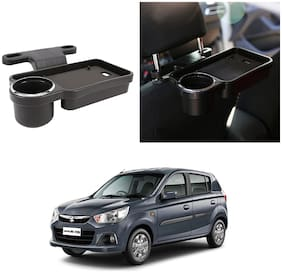 Oshotto Foldable Car Auto Headrest Rear Back Seat Table Drink Food Cup Tray Holder Compatible with Maruti Suzuki Alto K10 - Black