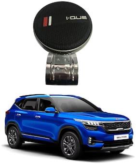 Oshotto I-QUE Power Handle Car Steering Spinner Wheel Knob Compatible with KIA Seltos (Black)
