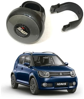 Oshotto I-QUE Compact Power Handle Car Steering Spinner Wheel Knob Compatible with Maruti Ignis (Grey)