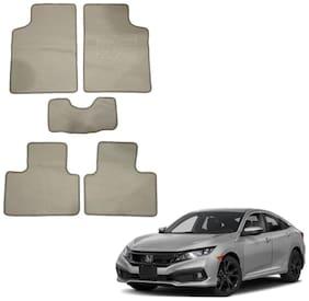 Oshotto/Matcon Carpet Foot mat for Honda Civic (Set of 5;Beige)