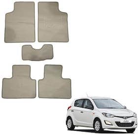 Oshotto/Matcon Carpet Foot mat for Hyundai I-20 (Set of 5;Beige)
