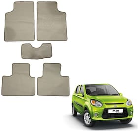 Oshotto/Matcon Carpet Foot mat for Maruti-Alto-800 (Set of 5;Beige)