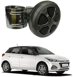 Oshotto Power Handle Car Steering Wheel Knob Compatible with Hyundai i20 Elite 2014-2020 (Black)