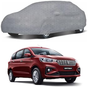 Oshotto/Recaro 100% Dust Proof, Water Resistant Honeycomb Design Grey Car Body Cover with Mirror Pocket for Maruti Ertiga 2018