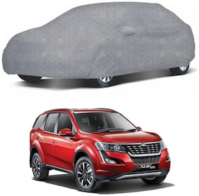 Oshotto/Recaro 100% Dust Proof, Water Resistant Honeycomb Design Grey Car Body Cover with Mirror Pocket for Mahindra XUV-500
