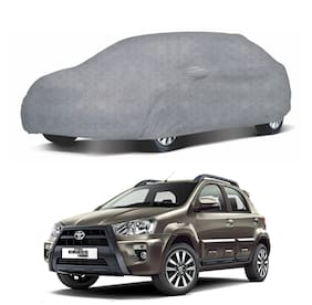 Oshotto/Recaro Dust Proof, Water Resistant Honeycomb Deisgn Grey Car Body Cover with Mirror Pockets for Toyota ETIOS Cross