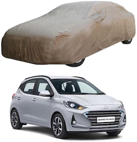 Oshotto/Recaro X1 Brown 100% Waterproof Car Body Cover with Mirror Pockets for Hyundai i10 Nios