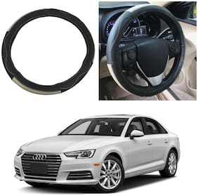 Oshotto SC-009 Leather Car Steering Cover Compatible with Audi A4 (2010-2016) ( Multi)