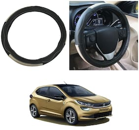 Oshotto SC-009 Leather Car Steering Cover Compatible with Tata Altroz ( Multi)