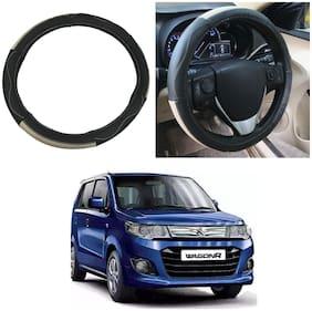 Oshotto SC-009 Leather Car Steering Cover Compatible with Maruti Suzuki Wagon R 2010-2019 ( Multi)