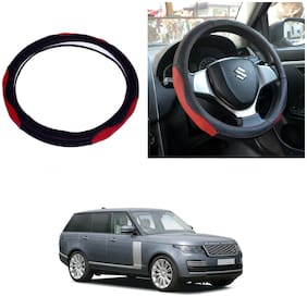 Oshotto SC-007 Leather Car Steering Cover Black and Red Colour Compatible with Rangerover Vogue