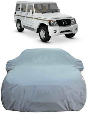 Oshotto Spyro 100% Anti Reflective;dustproof and Water Proof Car Body Cover for Mahindra Bolero (Grey)