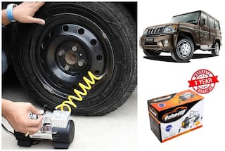OSHOTTO (Technology from Taiwan) Heavy Duty with 100W Copper Motor TYRE Inflator for MAHINDRA BOLERO