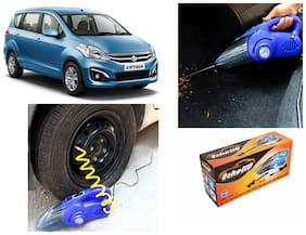 Oshotto 100W Heavy Duty Car Vacuum Cleaner Cum 120W Heavy Duty Air Compressor/Tyre Inflator (2 in 1) For Maruti ERTIGA