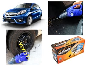 Oshotto 100W Heavy Duty Car Vacuum Cleaner Cum 120W Heavy Duty Air Compressor/Tyre Inflator (2 in 1) For HONDA AMAZE