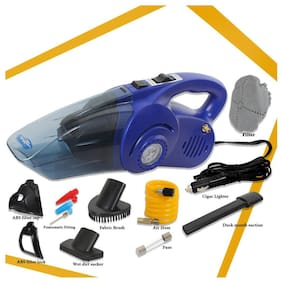 Oshotto 100W Heavy Duty Car Vacuum Cleaner Cum 120W Heavy Duty Air Compressor/Tyre Inflator (2 in 1) For HYUNDAI VERNA