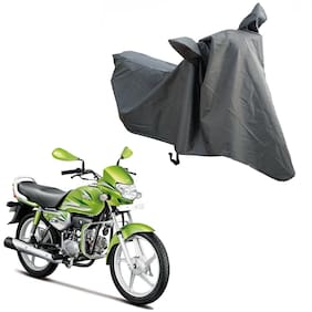 Oshotto Water and Dust Proof Double Mirror Pocket Spyro Bike Body Cover for Hero Hf Deluxe (Grey)