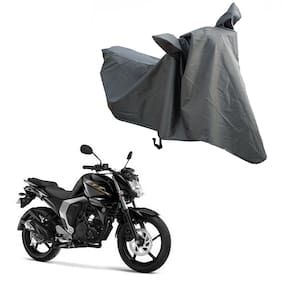 Oshotto Water and Dust Proof Double Mirror Pocket Spyro Bike Body Cover for Yamaha Fz (Grey)