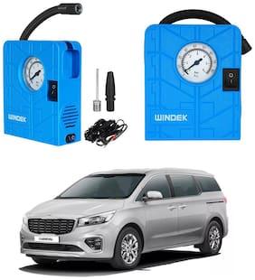 Oshotto  Windek 12V Portable Tire InflatorCompressor with LED Light for Kia Carnival (Blue)