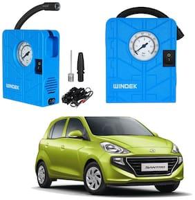 Oshotto  Windek 12V Portable Tire InflatorCompressor with LED Light for Hyundai Santro 2018 (Blue)
