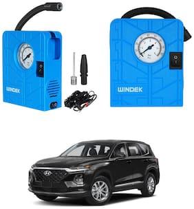 Oshotto  Windek 12V Portable Tire InflatorCompressor with LED Light for Hyundai Santa Fe (Blue)