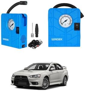Oshotto  Windek 12V Portable Tire InflatorCompressor with LED Light for Mitsubishi LancerCedia (Blue)