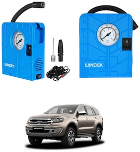 Oshotto  Windek 12V Portable Tire InflatorCompressor with LED Light Compatible With Endeavour (Blue)