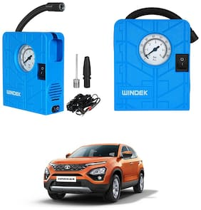 Oshotto   Windek Compact Air Pump Tire Inflator Compressor 300PSI Compatible with Tata Harrier (Blue)