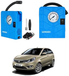 Oshotto   Windek Compact Air Pump Tire Inflator Compressor 300PSI Compatible with Tata Bolt (Blue)