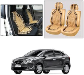 Oshotto Wooden Car Beads Car Wooden Acupressure Bead Seat Cover Compatible with Maruti Suzuki Baleno - Set of 2