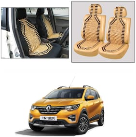 Oshotto Wooden Car Beads Car Wooden Acupressure Bead Seat Cover Compatible with Renault Triber - Set of 2