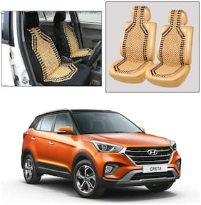 Oshotto Wooden Car Beads Car Wooden Acupressure Bead Seat Cover Compatible with Hyundai Creta (2015-2019) - Set of 2