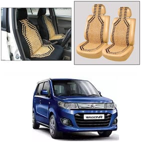 Oshotto Wooden Car Beads Car Wooden Acupressure Bead Seat Cover Compatible with Maruti Suzuki WagonR 2010-2021 - Set of 2
