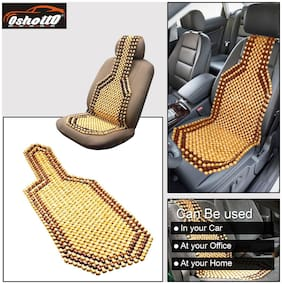 OSHOTTO Wooden Car Beads Premium Quality Car Wooden Acupressure Bead Seat Cover for Maruti Astar - (Beige) - Set of 1