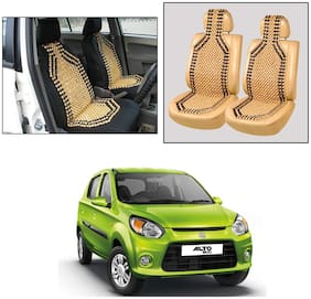 Oshotto Wooden Car Beads Car Wooden Acupressure Bead Seat Cover Compatible with Maruti Suzuki Alto-800 - Set of 2