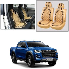 Oshotto Wooden Car Beads Car Wooden Acupressure Bead Seat Cover Compatible with Isuzu D-Max V-Cross - Set of 2